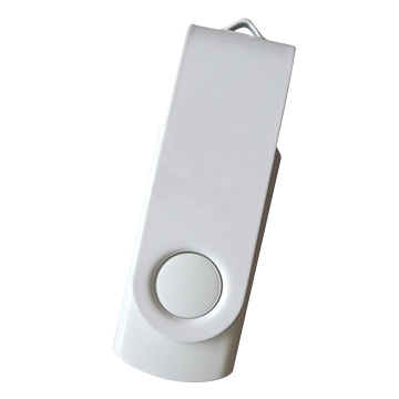 SeaKingAlpha® - Weiß+Weiß -   2GB USB Flash Drive Twister