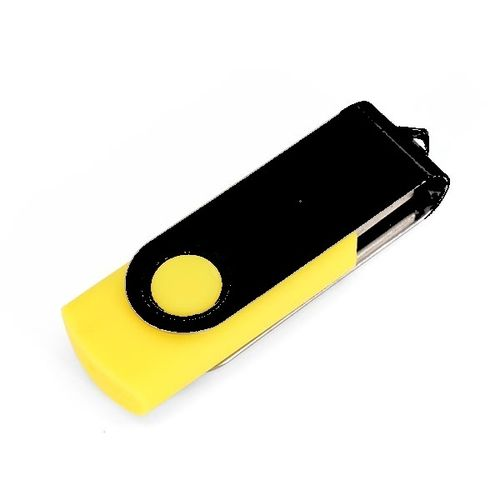 SeaKingAlpha® -  yellow + black -   4GB USB Flash Drive Twister