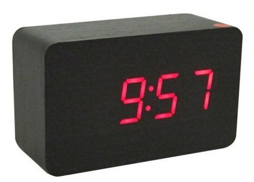 Clap On  WOOD CUBE 2 Schwarz / Black mit roter LED
