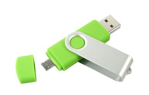 32GB USB Flash Drive Twister OTG - Grün