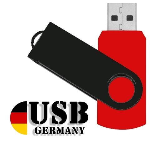 2GB USB Flash Drive Twister Rot / Schwarz
