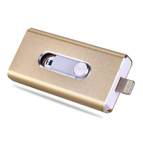 8GB  i-USB-Storer Gold 3in1 OTG USB Flash Drive für iPhone und iPad