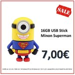 Sonderaktion  16GB USB Stick Minion Superman