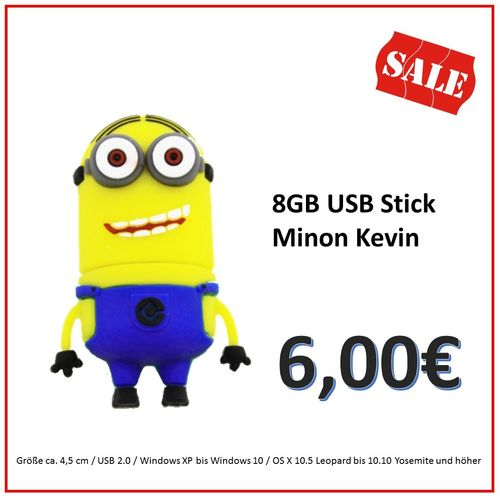Sonderaktion  8GB USB Stick Minion Kevin