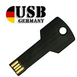16GB USB Stick – Key black